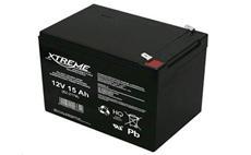 Baterie olověná 12V / 15Ah XTREME bezúdržbový gelový akumulátor