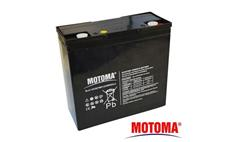 Baterie olověná 12V / 20Ah MOTOMA bezúdržbový akumulátor Trakční