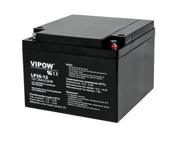 Baterie olověná 12V / 26Ah VIPOW bezúdržbový akumulátor