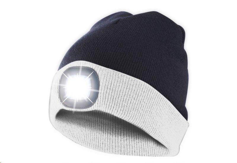 Čepice s čelovkou, univerzální velikost, bílo černá, VELAMP CAP17
