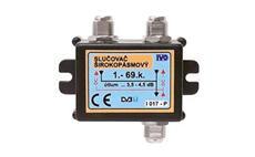 IVO I017-P hybridní slučovač 2x DC průchozí pro napájení