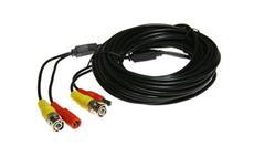 Kabel koaxiální s BNC + napájení 10 metrů černý