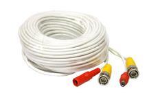 Kabel koaxiální s BNC + napájení 22 metrů bílý