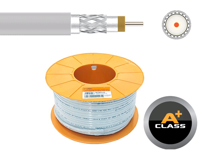 Kabel koaxiální Televes SK100PLUS Cu 413601 / 100m / 6,7 mm