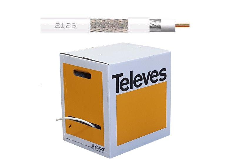 Kabel koaxiální Televes T-100 Cu 212604 / 250m / 6,6 mm