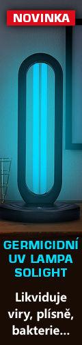 UV germicidní lampa Solight pro dezinfekci prostředí.