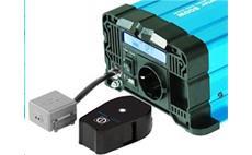 Měnič napětí Solarvertech FS1000 12V/230V 1000W + USB, dálkové ovládání, čistá sinusovka