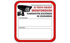 Samolepka - prostor monitorován kamerovým systémem